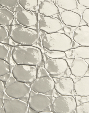 Bianco avorio Cocco - luxury leather tiles